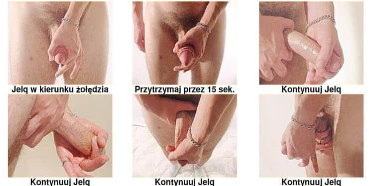 rozciąganie penisa jelq