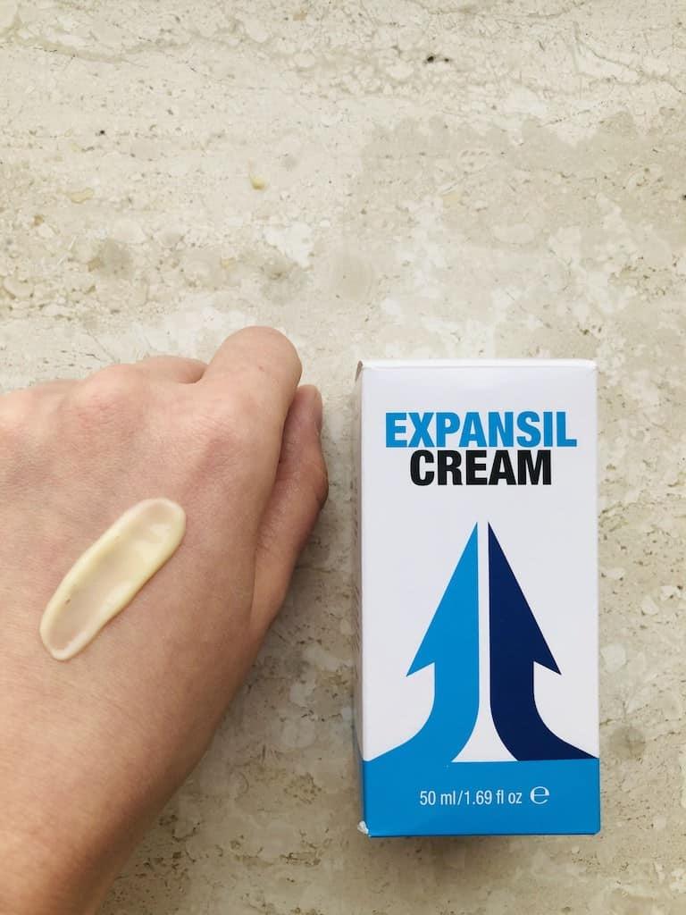 expansil cream stosowanie wygląd kremu